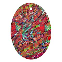 Expressive Abstract Grunge Oval Ornament (two Sides) by dflcprints