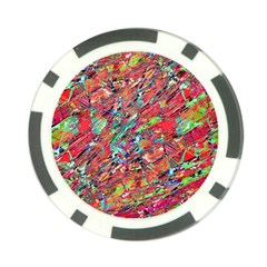 Expressive Abstract Grunge Poker Chip Card Guards (10 Pack)  by dflcprints
