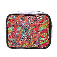 Expressive Abstract Grunge Mini Toiletries Bags by dflcprints