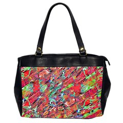 Expressive Abstract Grunge Office Handbags (2 Sides)  by dflcprints