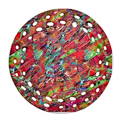 Expressive Abstract Grunge Ornament (round Filigree)  by dflcprints