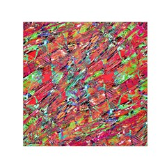 Expressive Abstract Grunge Small Satin Scarf (square)  by dflcprints