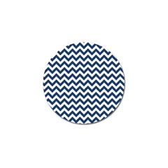 Navy Blue & White Zigzag Pattern Golf Ball Marker (10 Pack) by Zandiepants