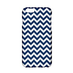 Navy Blue & White Zigzag Pattern Apple Iphone 6/6s Hardshell Case by Zandiepants