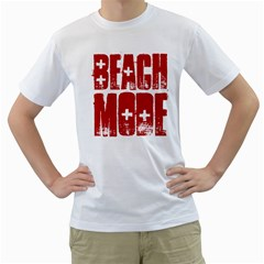 Beach Mode Men s T Shirt (white)  by spacecloud9