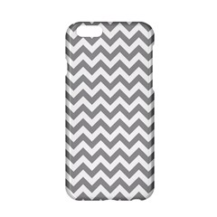 Medium Grey & White Zigzag Pattern Apple Iphone 6/6s Hardshell Case by Zandiepants