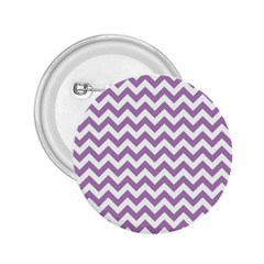 Lilac Purple & White Zigzag Pattern 2 25  Button by Zandiepants
