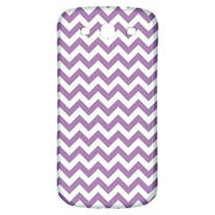 Lilac Purple & White Zigzag Pattern Samsung Galaxy S3 S Iii Classic Hardshell Back Case by Zandiepants