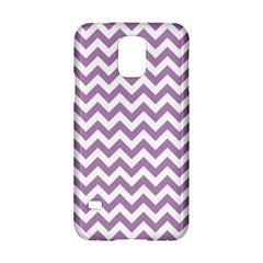 Lilac Purple & White Zigzag Pattern Samsung Galaxy S5 Hardshell Case  by Zandiepants