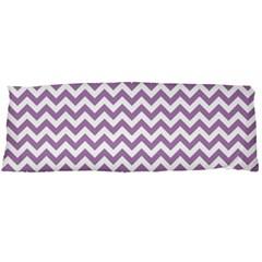 Lilac Purple & White Zigzag Pattern Body Pillow Case Dakimakura (two Sides) by Zandiepants