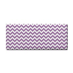 Lilac Purple & White Zigzag Pattern Hand Towel by Zandiepants