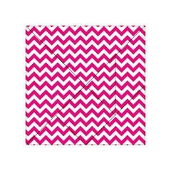 Hot Pink & White Zigzag Pattern Acrylic Tangram Puzzle (4  X 4 ) by Zandiepants