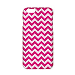 Hot Pink & White Zigzag Pattern Apple Iphone 6/6s Hardshell Case by Zandiepants