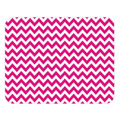 Hot Pink & White Zigzag Pattern Double Sided Flano Blanket (large) by Zandiepants