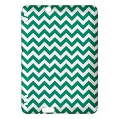 Emerald Green & White Zigzag Pattern Kindle Fire HDX Hardshell Case by Zandiepants