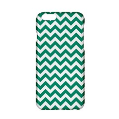 Emerald Green & White Zigzag Pattern Apple Iphone 6/6s Hardshell Case by Zandiepants