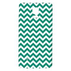Emerald Green & White Zigzag Pattern Samsung Note 4 Hardshell Back Case by Zandiepants