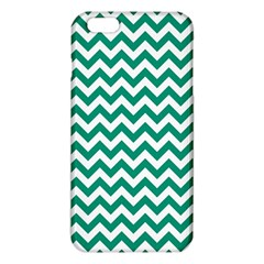 Emerald Green & White Zigzag Pattern Iphone 6 Plus/6s Plus Tpu Case by Zandiepants