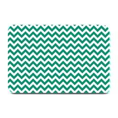 Emerald Green & White Zigzag Pattern Plate Mat by Zandiepants