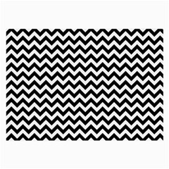 Black & White Zigzag Pattern Large Glasses Cloth by Zandiepants