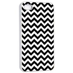 Black & White Zigzag Pattern Apple Iphone 4/4s Seamless Case (white) by Zandiepants