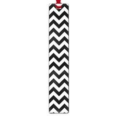 Black & White Zigzag Pattern Large Book Mark by Zandiepants