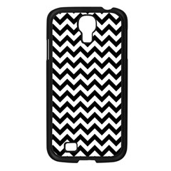 Black & White Zigzag Pattern Samsung Galaxy S4 I9500/ I9505 Case (black) by Zandiepants