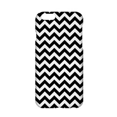 Black & White Zigzag Pattern Apple Iphone 6/6s Hardshell Case by Zandiepants