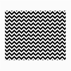 Black & White Zigzag Pattern Small Glasses Cloth (2 Sides) by Zandiepants