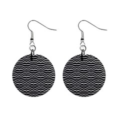 Modern Zebra Pattern Mini Button Earrings