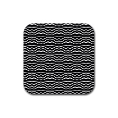 Modern Zebra Pattern Rubber Square Coaster (4 Pack)  by dflcprints