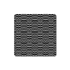 Modern Zebra Pattern Square Magnet by dflcprints
