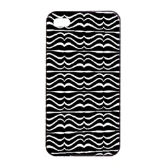 Modern Zebra Pattern Apple Iphone 4/4s Seamless Case (black) by dflcprints