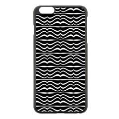 Modern Zebra Pattern Apple Iphone 6 Plus/6s Plus Black Enamel Case by dflcprints