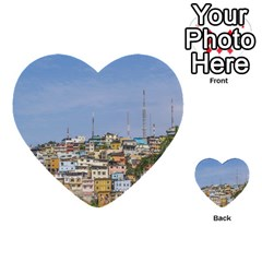 Cerro Santa Ana Guayaquil Ecuador Multi Purpose Cards (heart)  by dflcprints