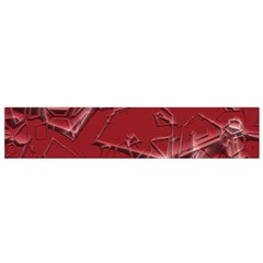 Thorny Abstract,red Flano Scarf (small) by MoreColorsinLife