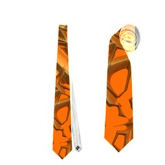 Thorny Abstract, Orange Neckties (One Side)  by MoreColorsinLife