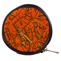 Thorny Abstract, Orange Mini Makeup Bags by MoreColorsinLife