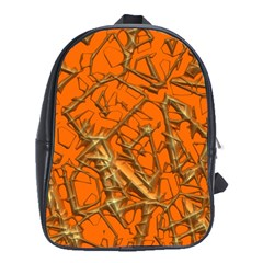 Thorny Abstract, Orange School Bags (xl)  by MoreColorsinLife