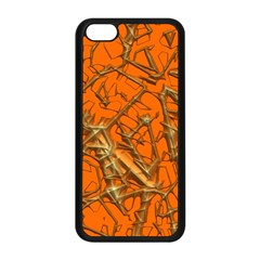 Thorny Abstract, Orange Apple Iphone 5c Seamless Case (black) by MoreColorsinLife