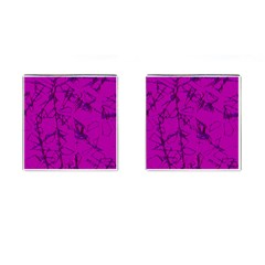 Thorny Abstract,hot Pink Cufflinks (square) by MoreColorsinLife