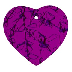 Thorny Abstract,hot Pink Heart Ornament (2 Sides) by MoreColorsinLife
