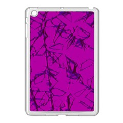 Thorny Abstract,hot Pink Apple Ipad Mini Case (white) by MoreColorsinLife