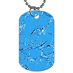 Thorny Abstract,ice Blue Dog Tag (two Sides) by MoreColorsinLife