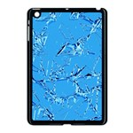 Thorny Abstract,ice Blue Apple iPad Mini Case (Black) Front