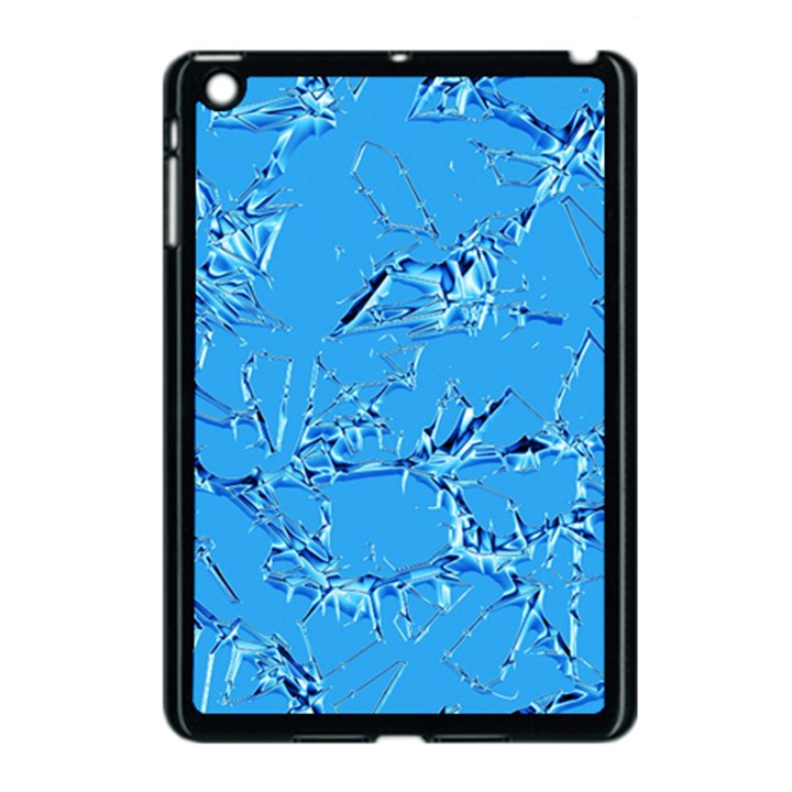 Thorny Abstract,ice Blue Apple iPad Mini Case (Black)