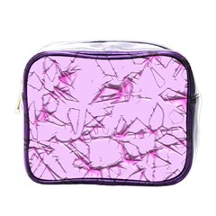 Thorny Abstract,soft Pink Mini Toiletries Bags by MoreColorsinLife