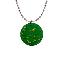 Thorny Abstract,green Button Necklaces by MoreColorsinLife