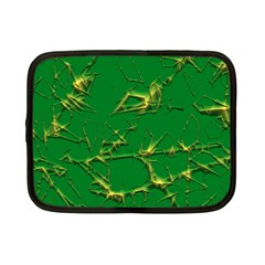 Thorny Abstract,green Netbook Case (Small)  by MoreColorsinLife