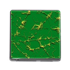 Thorny Abstract,green Memory Card Reader (square) by MoreColorsinLife